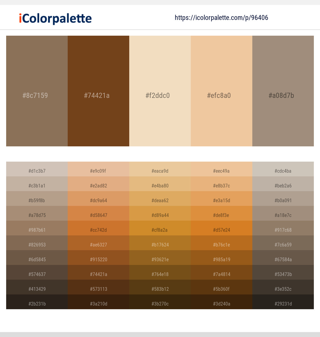 3 Color Palettes With Sidecar And Donkey Brown Color In 2019
