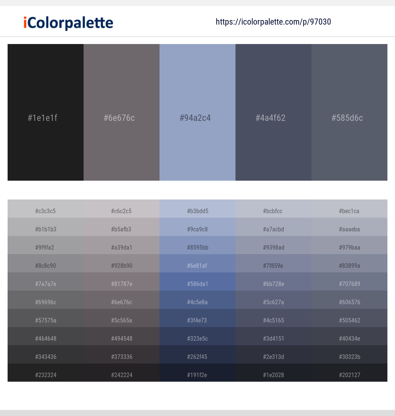3 Color Palettes with Shark And Fedora Color in 2019