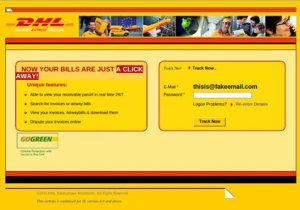 DHL Phishing Email Attempt