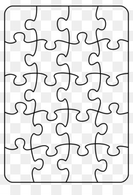Jigsaw Puzzle Tangram Template Clip Art Large Puzzle Piece Template Png Download 600430