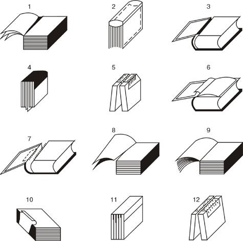 Виды разрушений книг