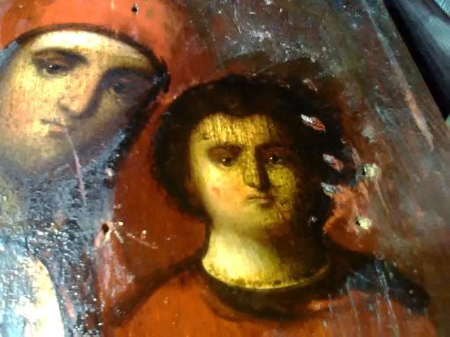 Образ Божией Матери Казанаская. Фрагмент личного