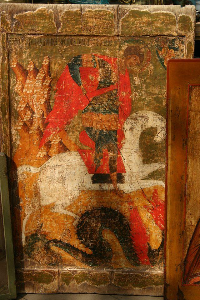 Подделка образа Георгия Победоносца под 16 век