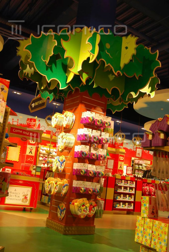 retail-display-unit-tree, large display tree, mdf, bright coloured