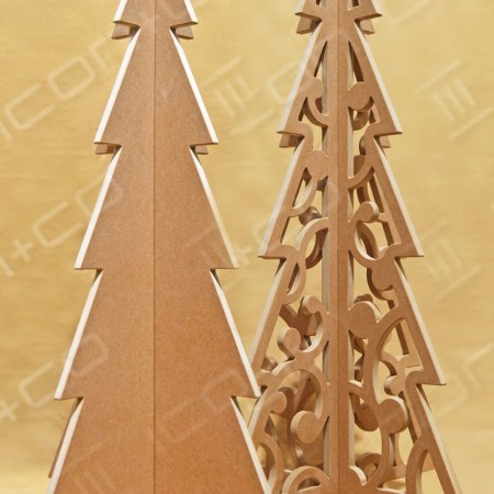 MDF Display Christmas Trees, Xmas trees retail display shop, wooden timber, Christmas & Seasonal Display, fret cut cnc flat-pack self assembly