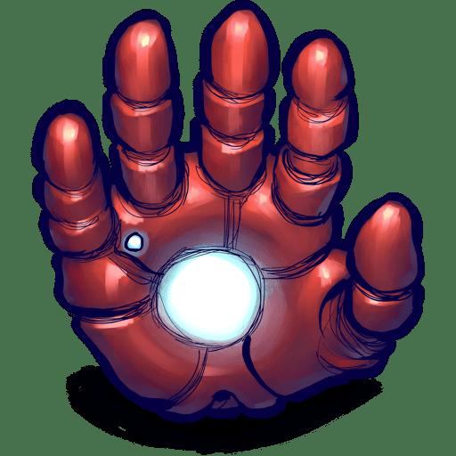 iron man hand icon png clipart image iconbug com