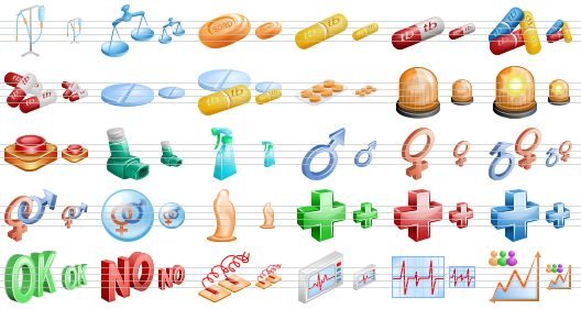 Medical And Health Care Icons