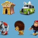 icônes cirque
