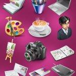 Designer portfolio icones