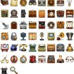 Icônes vintage gratuites