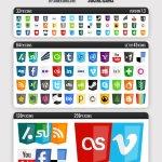 Modern Web Social Icones gratuites