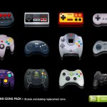 manettes consoles de jeu icones