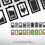 minimalist batterie icones