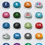 icône sociales bouton