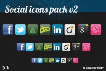 Social icons pack v2