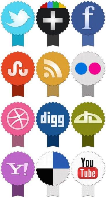 Set d'icônes de réseaux sociaux