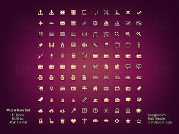 Micro icon set