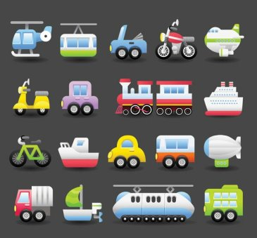 Cute transport vector