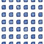 icônes projet esquisse bleue architecture