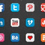 8 bit social icons
