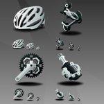 icônes VTT mountain bike
