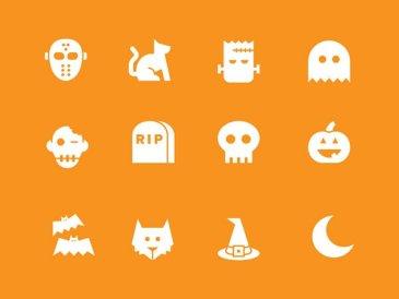 Simple Halloween icones