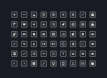 54 icônes carrés