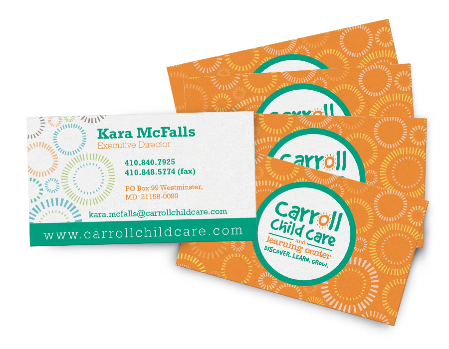 Business cards icon graphics carroll child care business cards colourmoves