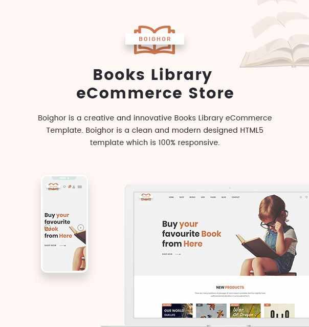 Boighor  a Books Library eCommerce Template