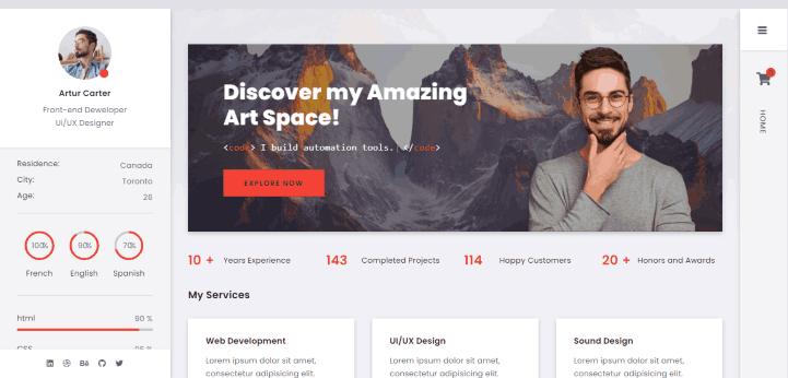 Arter a CV Resume Portfolio WordPress Theme