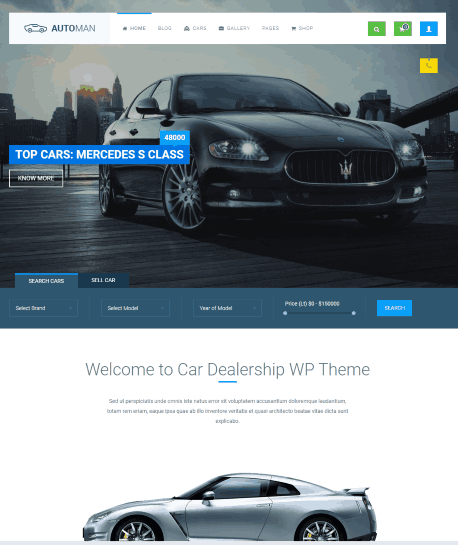 Automan a car selling website template