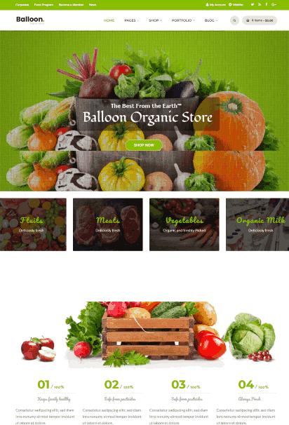 Balloon a Organic Farm WP theme