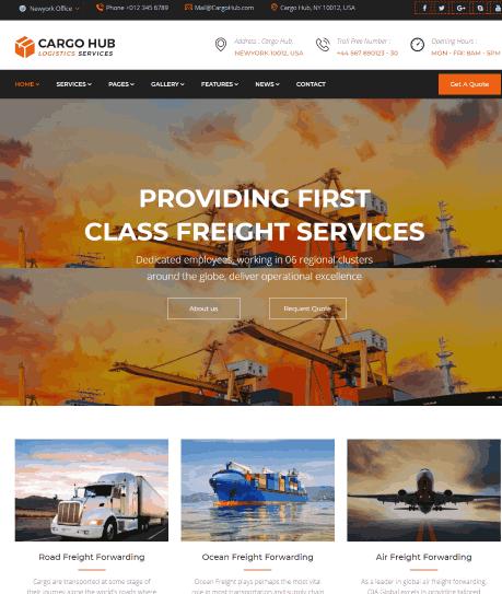 Cargo HUB an Transportation and Logistics WordPress Theme