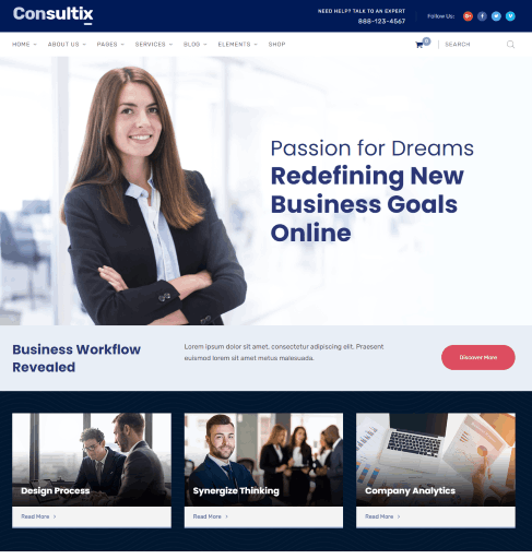 Consultix – Business and Finance Website Template