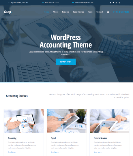 Gaap a CPA website template