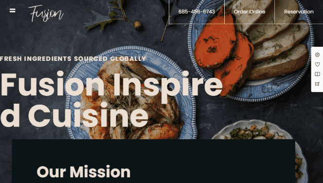 Grand Restaurant WordPress Theme with online ordering system