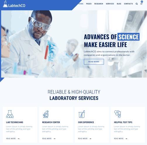LabtechCO a Laboratory & Science Research WordPress Theme