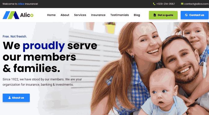 Alico an Insurance WordPress