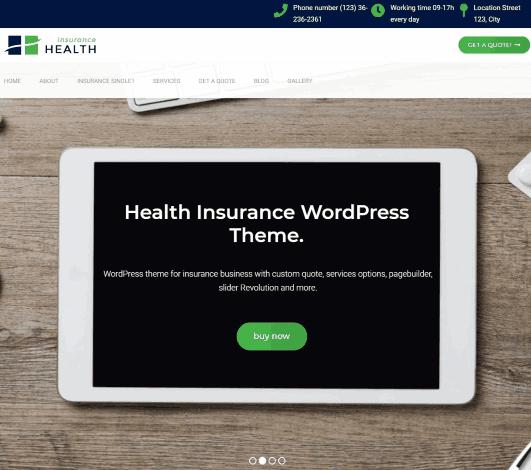 Health Insurance- Business WordPress Theme