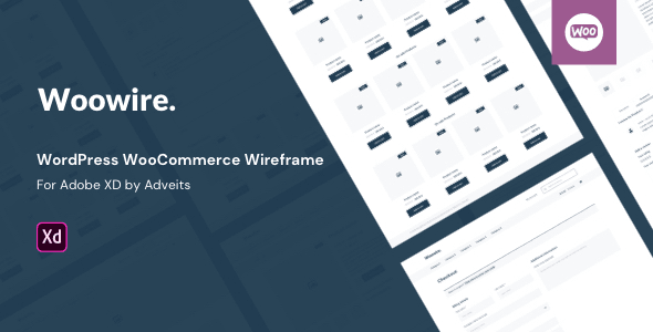 Woowire - WordPress Woo Commerce Wireframe for Adobe XD