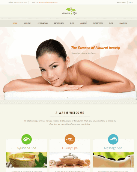 Dream Spa - Massage therapy website template