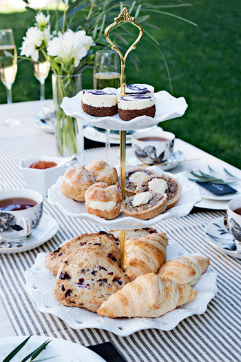 Tea Party Pastries and entertaining
