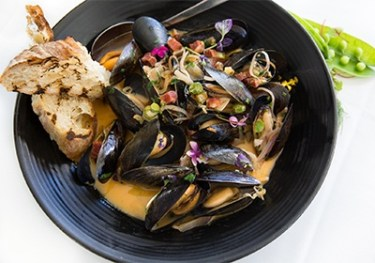 Chef Christopher Gross - Steamed Mussels