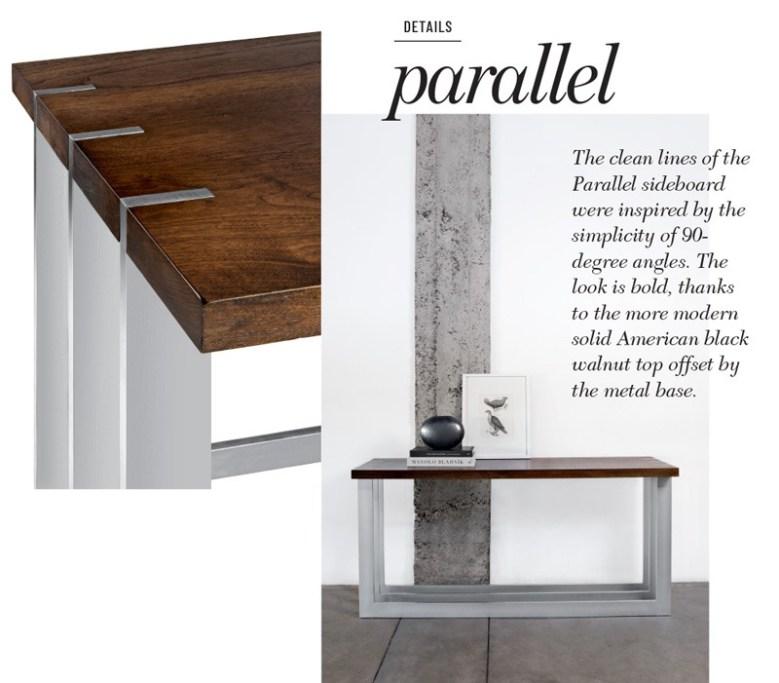 Peter Thomas Designs - Parallel table details