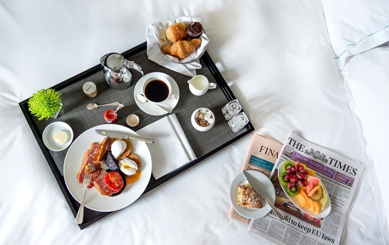 Breakfast in bed - Aldwych