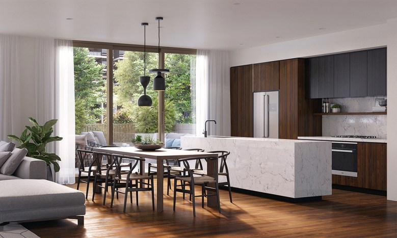 The Noble - kitchen and living room by Lorena Gaxiola
