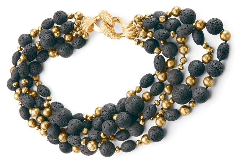 Adam Foster Lava Rock Clasp Necklace