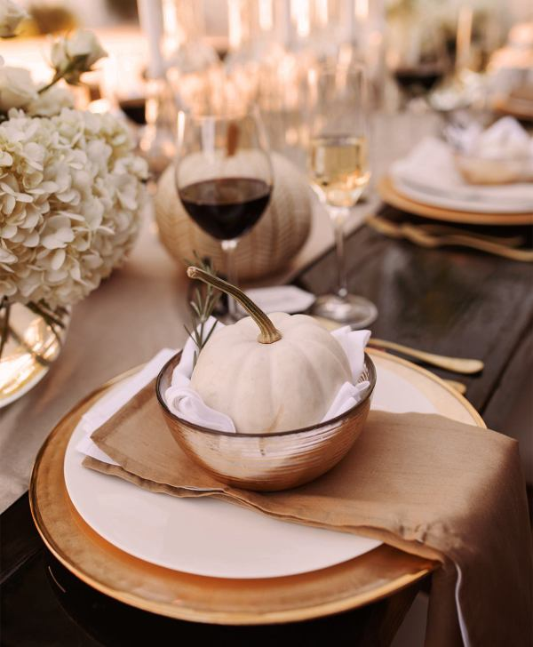 Modern Fall Tablescape Place Setting