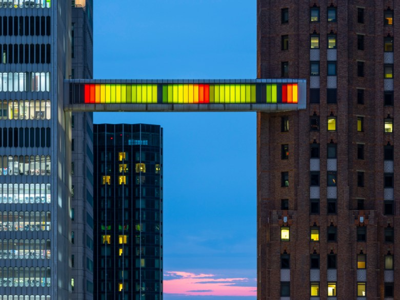 Skybridge public art Detroit