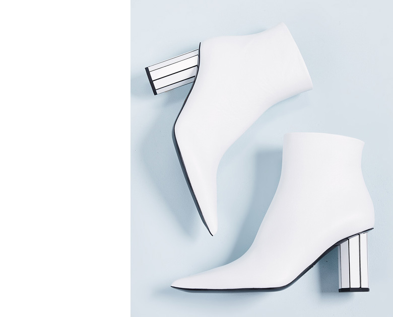 cool White Boots